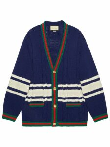 Gucci Wool cardigan with patches - Blue