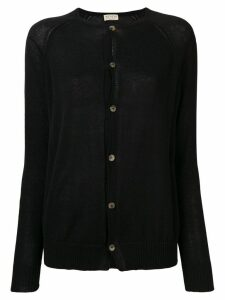 Ma'ry'ya classic slim-fit cardigan - Black