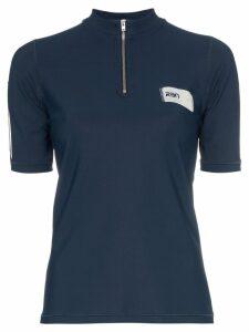 RBN X Bjorn Borg zip neck logo label polo shirt - Blue