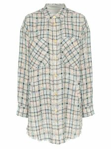 Faith Connexion oversized checked bouclé shirt - MULTICOLOURED