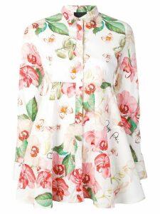 Philipp Plein floral print shirt - White