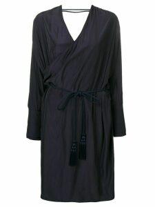 LANVIN wrap midi dress - Blue
