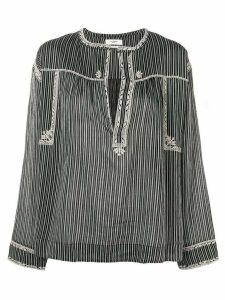 Isabel Marant Étoile vertical striped blouse - Black