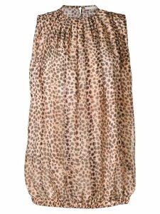 L'Autre Chose leopard print blouse - Brown