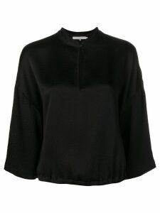 L'Autre Chose button collar blouse - Black