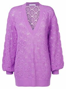 See By Chloé oversized patterned knit sweater - Purple