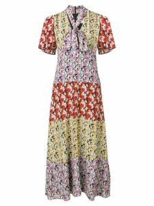 Valentino floral print dress - PURPLE