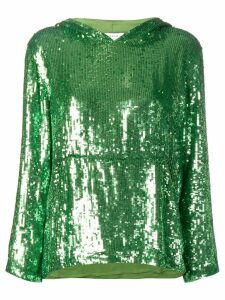 P.A.R.O.S.H. sequin hoodie - Green