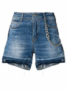 Ermanno Scervino distressed denim shorts - Blue