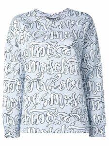 Love Moschino logo print sweatshirt - Grey