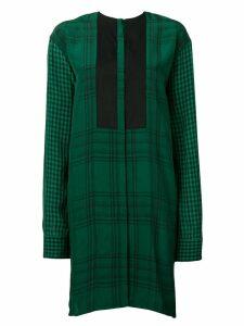 Haider Ackermann check print dress - Green