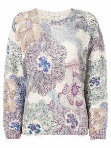 Etro floral motif jumper - NEUTRALS