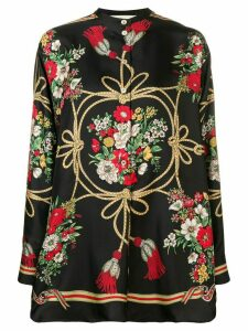 Gucci Floral silk blouse - Black