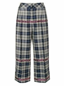 Antonio Marras checked cropped trousers - Blue