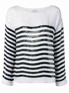 P.A.R.O.S.H. striped sequin top - White