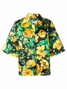 Richard Quinn rose print shirt - Yellow
