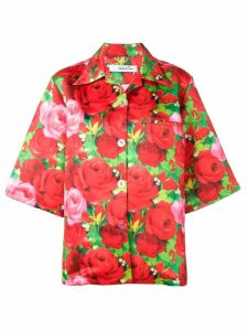 Richard Quinn rose printed shirt - Red