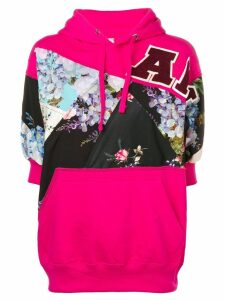 Antonio Marras floral panelled hooded sweatshirt - PINK