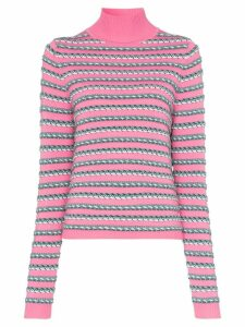 Rosie Assoulin turtleneck striped long-sleeved knitted woollen jumper