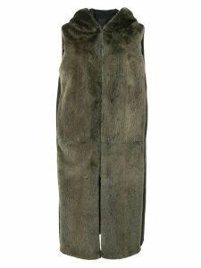 Liska sleeveless hooded coat - Green