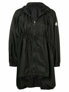 Moncler oversized hooded coat - Black
