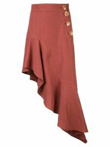 Rejina Pyo asymmetrical midi dress - Brown