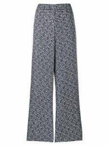 Michael Michael Kors logo palazzo trousers - Blue