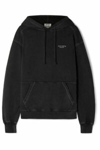 Acne Studios - Weny Embroidered Cotton-jersey Hoodie - Black