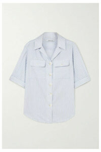 ANNA QUAN - Dolly Striped Cotton-poplin Shirt - Blue