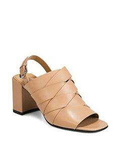 Via Spiga Women's Oren 2 Woven Leather Slingback Sandals