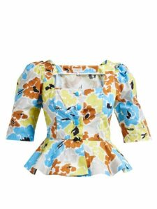 Isa Arfen - Ponza Floral-print Cotton Blouse - Womens - Multi