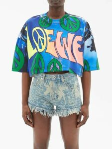 La Fetiche - Lil Contrast-collar Technical Jacket - Womens - White Multi