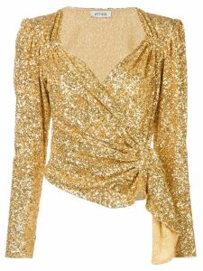 The Attico sequinned top - GOLD