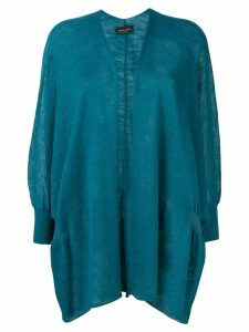 Roberto Collina fine knit cardigan - Blue