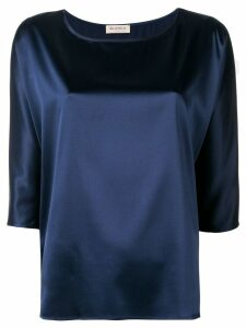 Blanca boat neck blouse - Blue