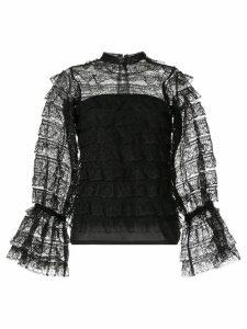 Bambah lace victorian blouse - Black