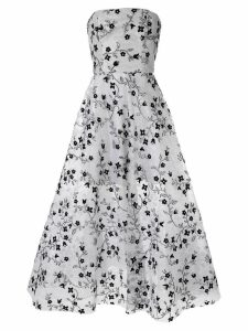 Bambah embroidered strapless gown - Silver