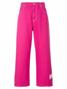 MSGM Fuchsia flared trousers - PINK