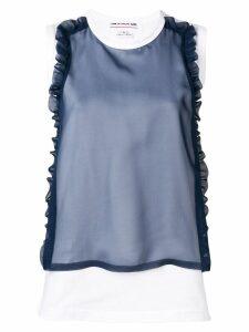 Comme Des Garçons Girl appliqué mesh blouse - White
