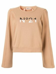 Nº21 embroidered logo sweatshirt - Brown