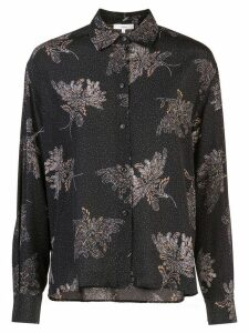 Vince loose-fit printed shirt - Black