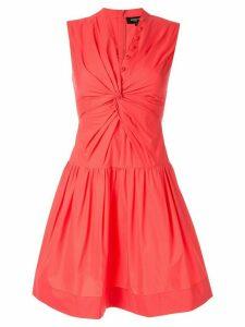 Paule Ka sleeveless flared dress - PINK