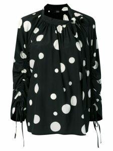 Steffen Schraut polka dot blouse - Black