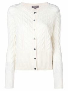 N.Peal cable knit cardigan - Neutrals