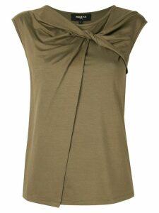 Paule Ka sleeveless fitted top - Green