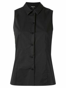 Paule Ka sleeveless fitted blouse - Black