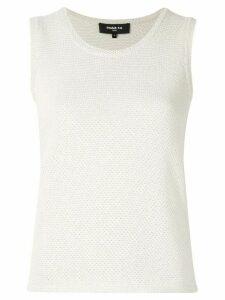 Paule Ka sleeveless fitted sweater - White