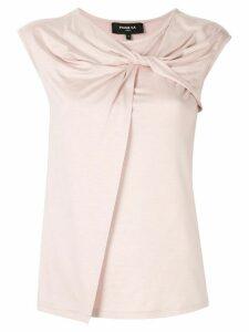 Paule Ka sleeveless fitted top - PINK