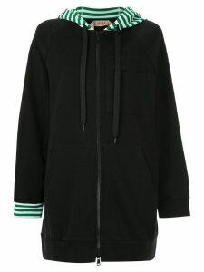 Nº21 zipped hoodie - Black
