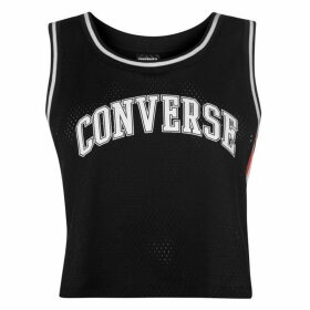 Converse Crop Basketball Jersey - Black